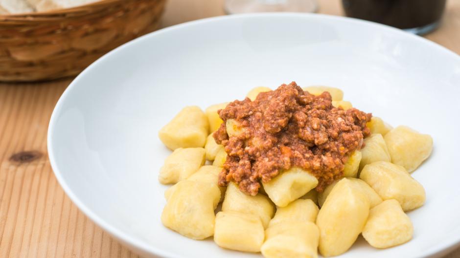 Gnocchi di patate ragu cinghiale burro e salvia Antonic Agriristoro Trieste